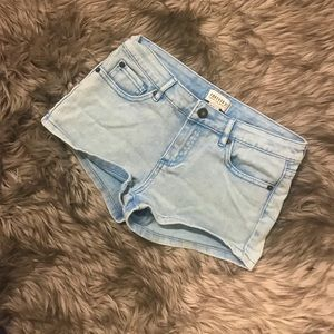 Forever 21 Blue Vintage Style Mid Rise Shorts 25